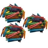 STEM Basics, Multicolor Clothespins, 50 Per Pack, 3 Packs