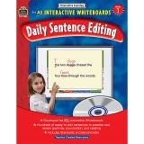 INTERACTIVE LEARNING GR 1 DAILY  SENTENCE EDITING BK W/CD