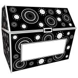 BLACK & WHITE CRAZY CIRCLES CHEST
