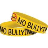 NO BULLYING WRISTBANDS 10 PK
