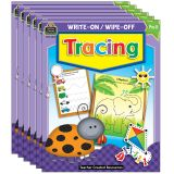 Write-On/Wipe-Off: Tracing, Pack of 6