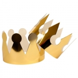 Crowns Gold Metallic, Pack of 24