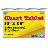 CHART TABLET 16X24 ASSORTED BLANK