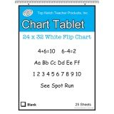 WHITE CHART TABLET 32X24 1IN RULED  25 SHT