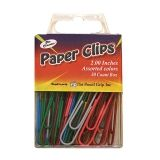 JUMBO PAPER CLIP ASSORTED COLORS  2.0 30 PC BOX