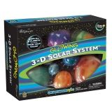 Glowing 3-D Solar System