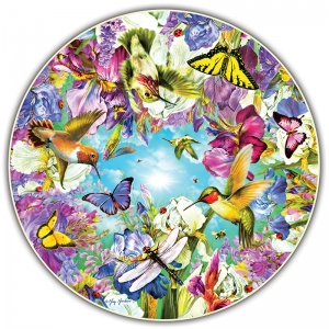 Round Table Puzzle, Hummingbirds, 500Piece