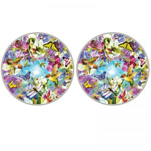 Round Table Puzzle, Hummingbirds, 500Piece, Pack of 2