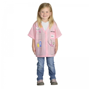 MY 1ST CAREER GEAR PINK DOCTOR  TOP ONE SIZE FITS MOST AGES 3-6