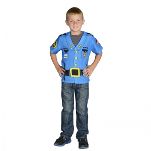 MY 1ST CAREER GEAR POLICE TOP  ONE SIZE FITS MOST AGES 3-6