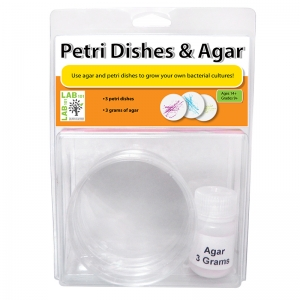 PETRI DISHES & AGAR SET OF 3