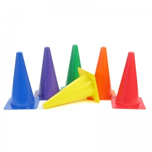 "Rigid Plastic Cones, 12"", Set of 6"