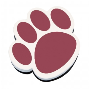 Magnetic Whiteboard Eraser, Maroon Paw