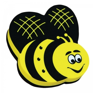 Magnetic Whiteboard Eraser, Bee