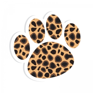 MAGNETIC WHITEBOARD ERASER CHEETAH  PAW