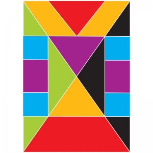 MATH DIE CUT MAGNETS TANGRAMS