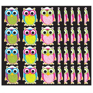 Die-Cut Magnetic Scribble Owls, 12 Pieces Per Pack, 6 Packs