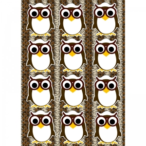 DIE CUT MAGNETS OWLS