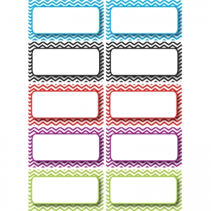 DieCut Magnetic Colorful Chevron Labels/Nameplates, 10 Pieces