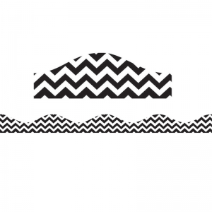 Magnetic Border, Black Chevron, 12'