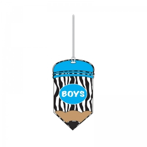 PENCIL SHAPED PRINT BOYS PASS