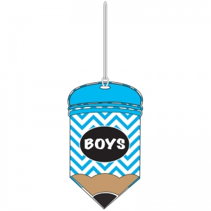 CHEVRON PENCIL BOYS HALL PASS