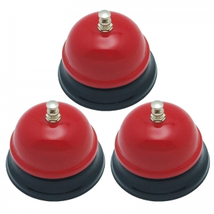 Decorative Call Bell, Red, Pack of 3