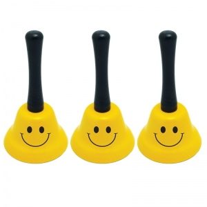 Decorative Hand Bell, Smile Faces, Pack of 3