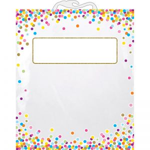 "Hanging Confetti Pattern Storage/Book Bag, 10.5"" x 12.5"", Pack of 10"