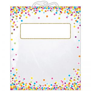 "Hanging Confetti Pattern Storage/Book Bag, 10.5"" x 12.5"", Pack of 6"