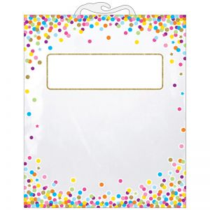"Hanging Confetti Pattern Storage/Book Bag, 10.5"" x 12.5"", Pack of 30"