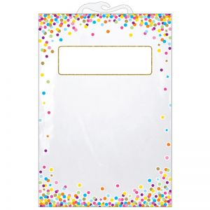 "Hanging Confetti Pattern Storage/Book Bag, 11"" x 16"", Pack of 25"