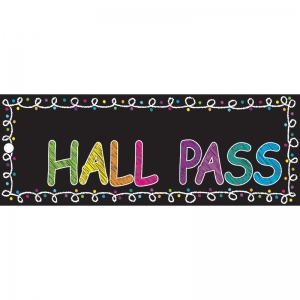 "Chalk Hall Laminated 2-Sided Pass, 9"" x 3.5"""