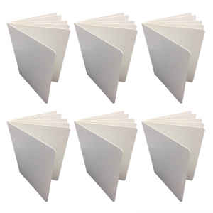 "Blank Chunky Board Book, 6"" x 8"" Portrait, White, Pack of 6"