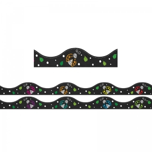 Magnetic Scallop Border Chalk Ladybugs, 12'