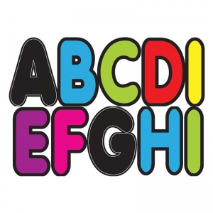 ASSORTED COLORS 2-3/4IN DESIGNER  MAGNETIC LETTERS
