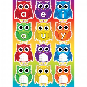 OWLS W/ VOWELS MAGNETIC MINI BBS