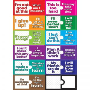 Magnetic Mini Bulletin Board Set, Growth Mindset, 3 Sets