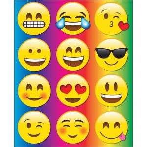 Die-Cut Magnetic Emojis, 12 Pieces Per Pack, 6 Packs