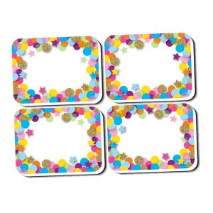 NonMagnetic Mini Whiteboard Erasers, Confetti, Pack of 10
