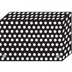 BW DOTS INDEX CARD BOXES 3X5IN  DECORATED POLY