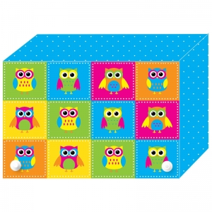 COLOR OWLS INDEX CARD BOXES 3X5IN  DECORATED POLY