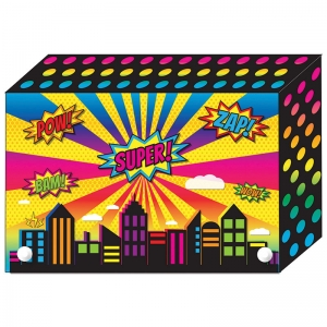 SUPER CITY INDEX CARD BOXES 4X6IN  DECORATED POLY