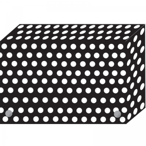 BW DOTS INDEX CARD BOXES 4X6IN  DECORATED POLY
