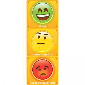 "Smart Poly Clip Chart w/Grommet, 9"" x 24"", Stop Light Personal Behavior"