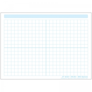 "Smart Poly Single Sided PosterMat Pals Space Savers, 1/2"" Grid Blocks, 468 Blocks, 13"" x 9.5"""