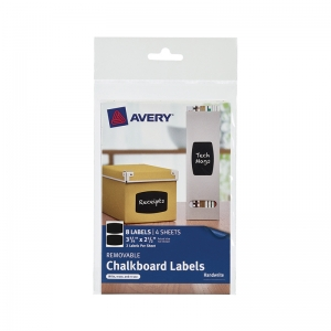 AVERY RECTANGLE 8PK REMOVABLE  CHALKBOARD LABELS 3 3/4X 2 1/2