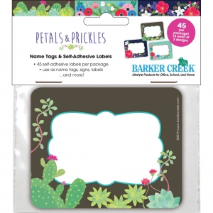 "Petals & Prickles Name Tags, 3-1/2"" x 2-3/4, Pack of 45"