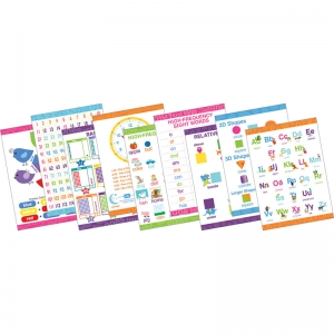 "Early Learning Poster Set, 9 Posters, 19"" x 13-3/8"""
