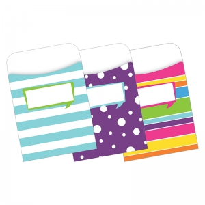 PEEL & STICK POCKETS HAPPY MULTI  DESIGN SET